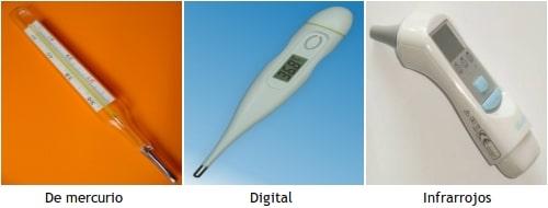 tipos de termómetros clínicos